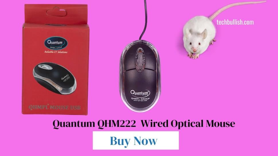 Quantum-QHM222-3-Button-1000DPI-Wired-Optical-Mouse-Black