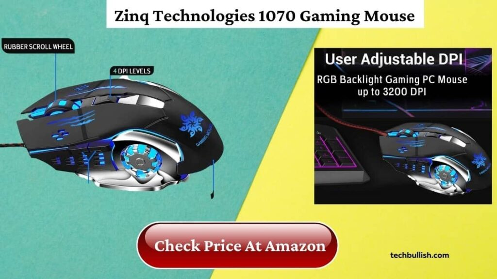 best gaming mouse under 500-zinq technologies 1070 wired gaming mouse