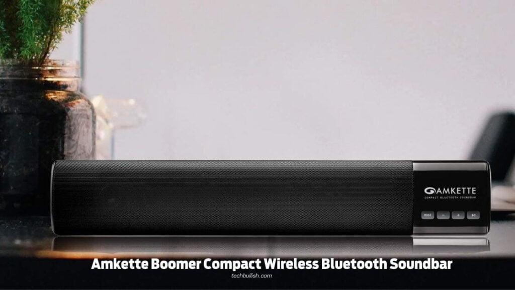 Amkette Boomer Compact Wireless Bluetooth Soundbar
