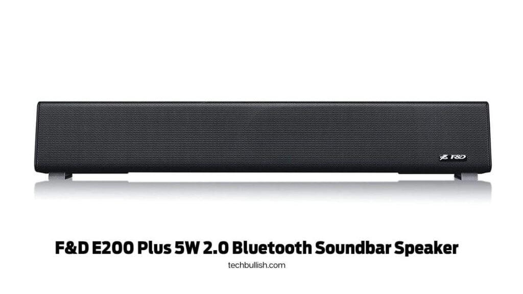 F&D E200 Plus 5W 2.0 Bluetooth Soundbar Speaker