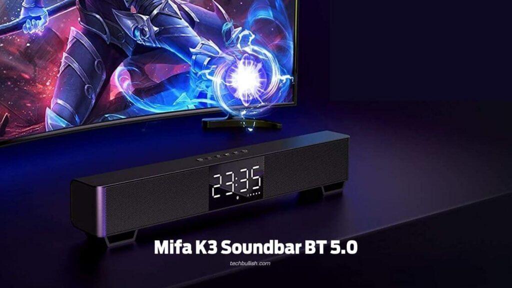best bluetooth soundbar under 1500-Mifa K3 Soundbar BT5.0