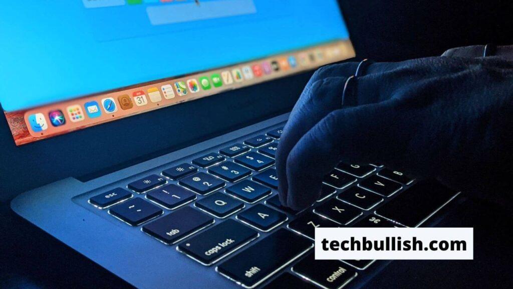 practice typing on backlit laptop keyboard