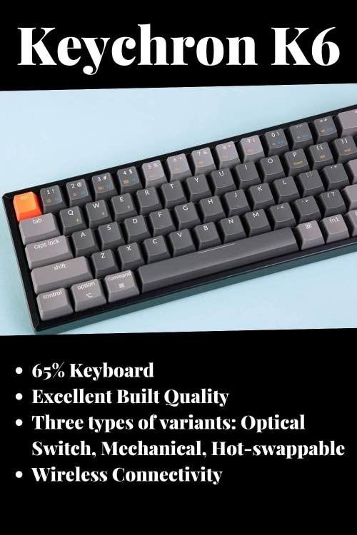 Keychron K6 review features