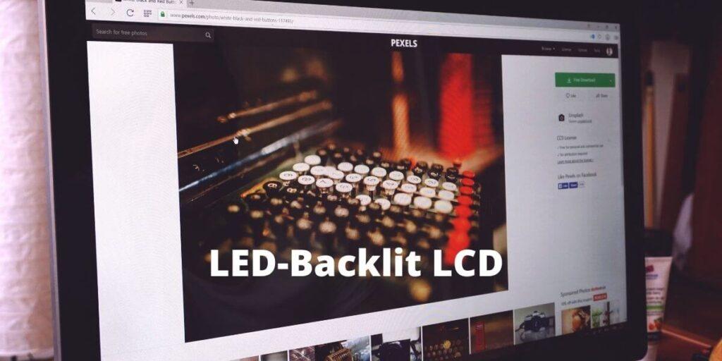 LED-backlit LCD