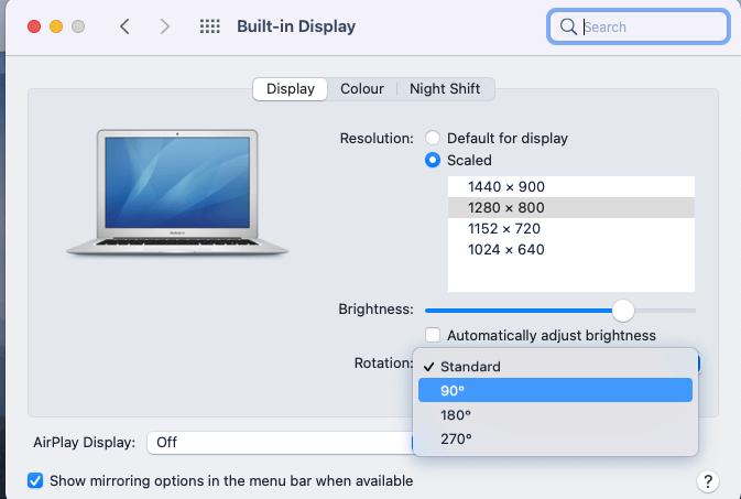 Setup Vertical Screen Mac 3