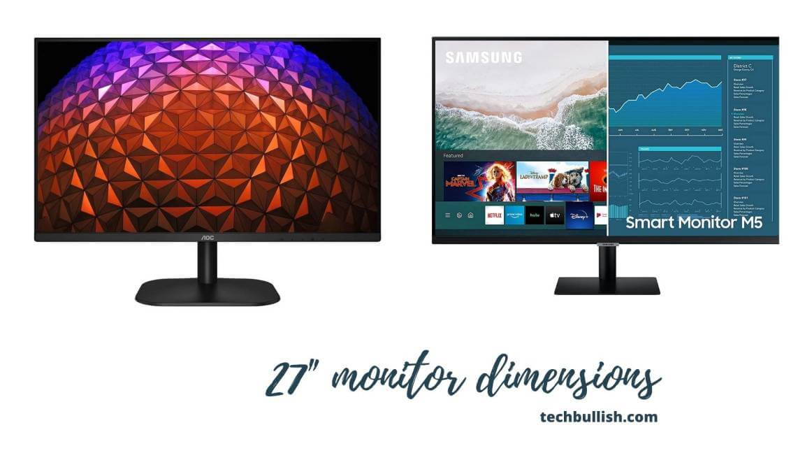 how big is 27 inch monitor