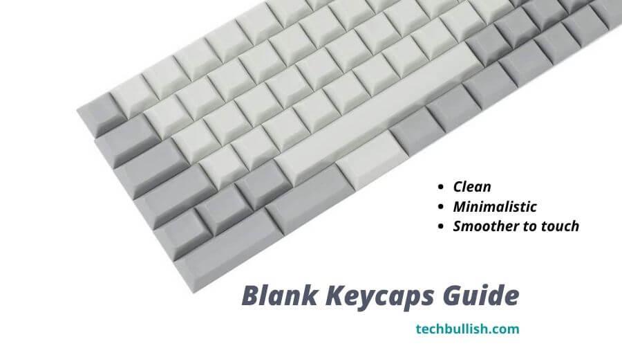 blank keycaps