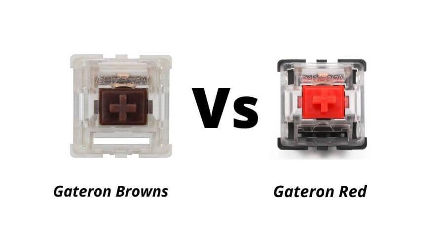 gateron brown vs gateron red